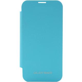 Blue Premium Flip Book Cover Case for Samsung Galaxy Note 2 N7100