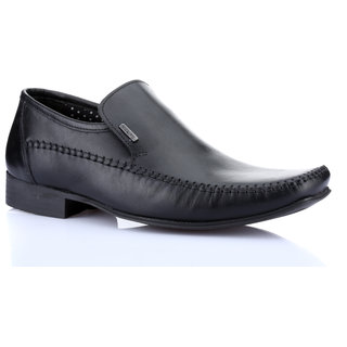 Red Tape Mens Black Formal Slip On Shoes (RTS9391)