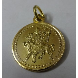 Golden Plated Maa Durga Pendent Kawach with Bisa Yantra