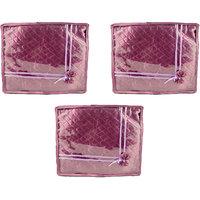 Annapurna Sales Purple Satin Large Saree Cover - Set Of