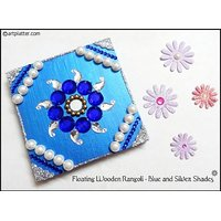 Metal Rangoli In Blue And Silver