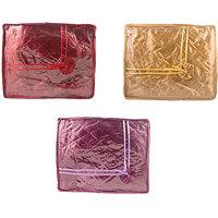 Annapurna Sales Golden/Purple And Maroon Satin Small Sa