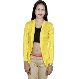 IndiWeaves Women Viscose Yellow Shurg with Pocket