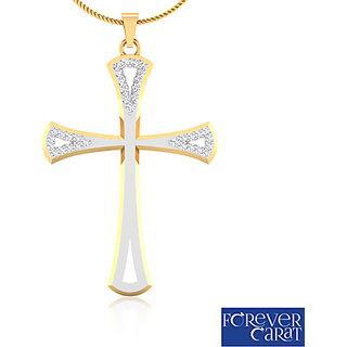 0.11ct Natural White Diamond Cross Pendant 925 Sterling Silver Pendant P-0065S