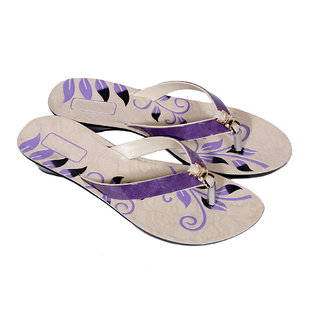IndiWeaves Womens Purple Casual Slippers (87008-IW)