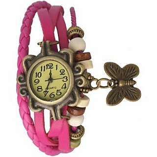 Thummar fashion Vintage Butterfly Analog Watch  For Girls  Women(Pink) BY InstaDeal