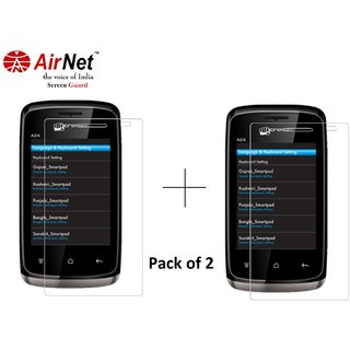 Airnet  Scratch and Dust Resistant Screen Guard for Micromax A 24