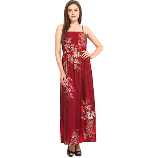 Instacrush Multicolor Printed Gown Dress For Women
