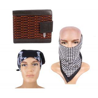 Sushito Designer Wallet Combo Set Of Two Summer Headwrap JSMFHWT0450-JSMFHHR0187