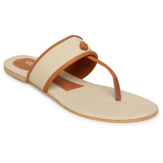 Vendoz Women's Cream Flats