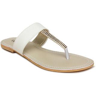 Vendoz Women's White Flats