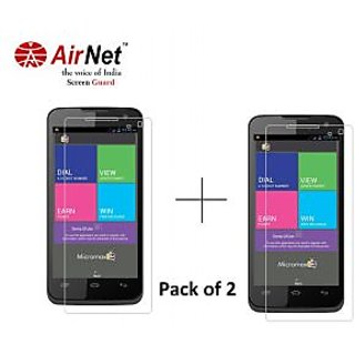 Airnet  Scratch and Dust Resistant Screen Guard for Micromax Canvas mad A94