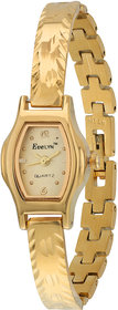 Evelyn Stainless Steel Gold Plated Wrist Watch for Women-EVE-403