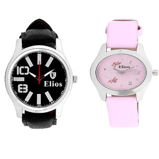 Elios Graceful Couple Watch Combo Of Two Analog Watches