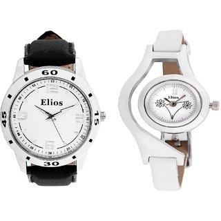 Elios Stylish Couple Watch Combo Of  Analog Watches