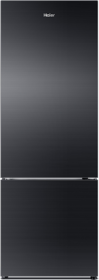 Haier 320 Ltrs Hrb-3404Pkg Refrigerator Bottom Freezer Black Glass Door