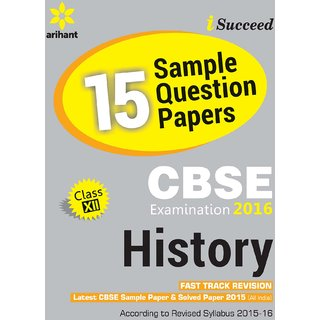 Cbse 15 Sample Papers History For Class 12Th