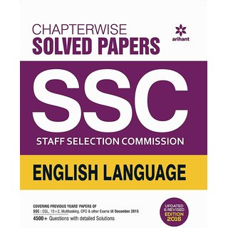 Chapterwise Solved Papers Ssc Staff Selection Commission English Language