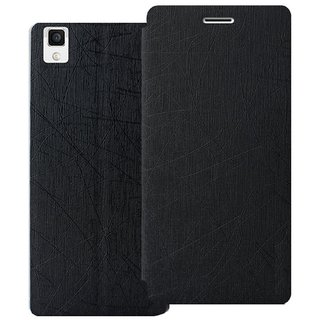 Heartly Premium Luxury PU Leather Flip Stand Back Case Cover For Oppo R9 Plus - Best Black