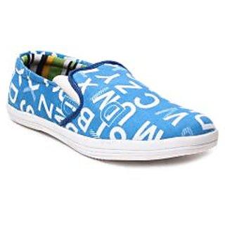 Juan David Mens Blue Casuals Lace-up Shoes