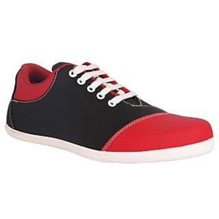 Juan David Mens Red Casuals Lace-up Shoes