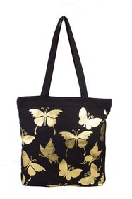 Vivinkaa Black Butterfly Printed Tote