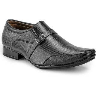 Juan David Mens Black Formal Slip on Shoes