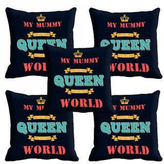 meSleep Black Queen Black Mothers Day Cushion Cover (16x16)
