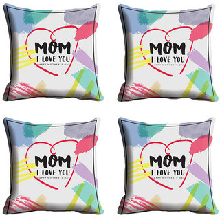 meSleep Grey Mom Love Mothers Day Cushion Cover (16x16)