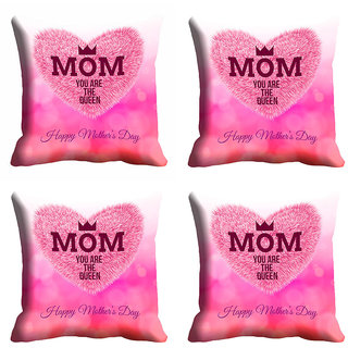 meSleep Pink Beautiful Mothers Day Cushion Cover (16x16)