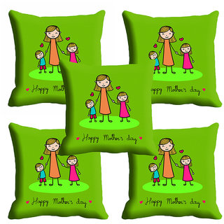 meSleep Green Beautiful Mothers Day Cushion Cover (16x16)