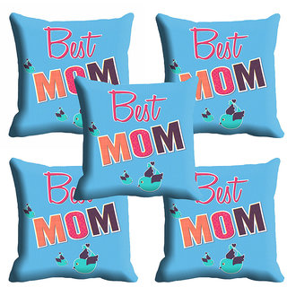 meSleep Beautiful Blue Moms Mothers Day Cushion Cover (16x16)