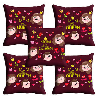 meSleep Mom U Are The Queen Mothers Day Cushion Cover (16x16)