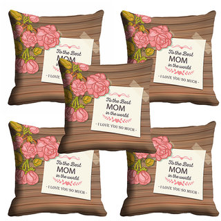 meSleep To The Best Mom In The World Mothers Day Cushion Cover (16x16)