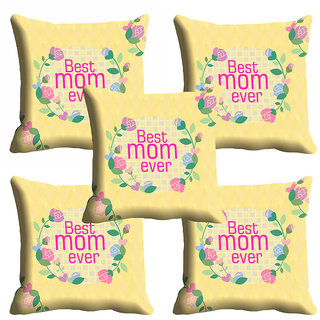 meSleep Best Mom Ever Mothers Day Cushion Cover (16x16)