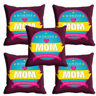 meSleep Wonder Mom Mothers Day Cushion Cover (16x16)