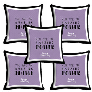 meSleep Purple Mothers Day Cushion Cover (16x16)