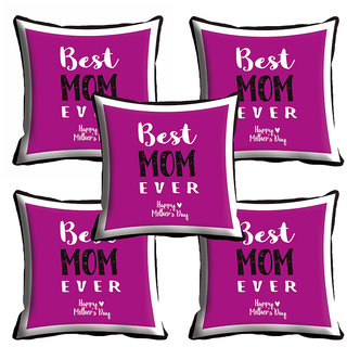 meSleep Purple Best Mom Mothers Day Cushion Cover (16x16)