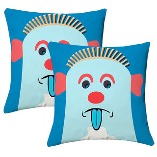 Lushomes Kids Digital Print Expression Cushion Covers (Pack of 2)