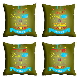 meSleep The Best Mom Mothers Day Cushion Cover (16x16)