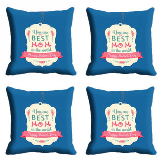meSleep You Are The Best Mom Mothers Day Cushion Cover (16x16)