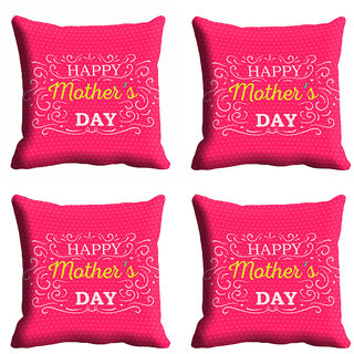 meSleep Pink Happy Mothers Day Cushion Cover (16x16)