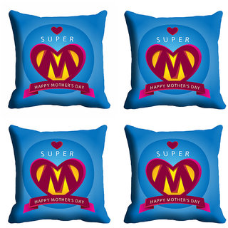 meSleep Super Mom Mothers Day Cushion Cover (16x16)