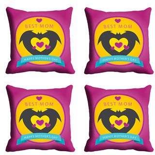 meSleep Best Mom Mothers Day Cushion Cover (16x16)