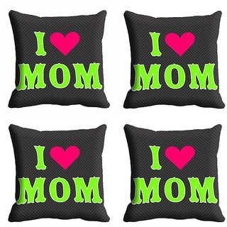 meSleep I Love Mom Mothers Day Cushion Cover (16x16)