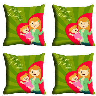 meSleep Green Happy Mothers Day Cushion Cover (16x16)