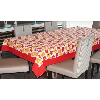 Lushomes 6 Seater Small Basic Printed Table Cloth