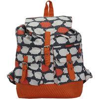 Vivinkaa Orange Solid Backpack