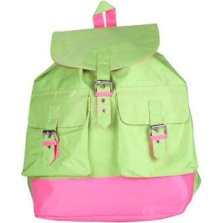 Vivinkaa Green Printed Backpack