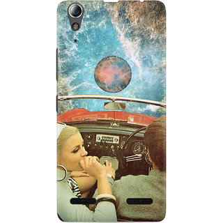 The Fappy Store THE SPACE CAR GRAPHIC  Lenovo A6000 Back Cover